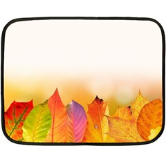Autumn Leaves Colorful Fall Foliage Fleece Blanket (mini) by Amaryn4rt