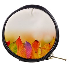 Autumn Leaves Colorful Fall Foliage Mini Makeup Bags by Amaryn4rt