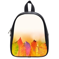 Autumn Leaves Colorful Fall Foliage School Bags (small)  by Amaryn4rt