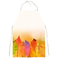 Autumn Leaves Colorful Fall Foliage Full Print Aprons by Amaryn4rt