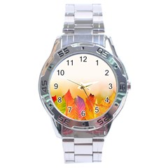 Autumn Leaves Colorful Fall Foliage Stainless Steel Analogue Watch by Amaryn4rt