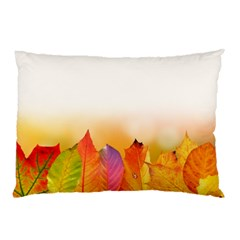 Autumn Leaves Colorful Fall Foliage Pillow Case (two Sides) by Amaryn4rt