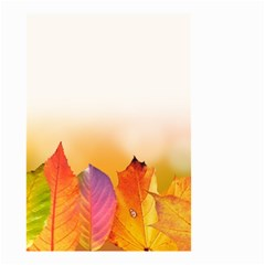 Autumn Leaves Colorful Fall Foliage Small Garden Flag (two Sides) by Amaryn4rt