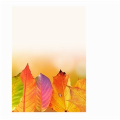 Autumn Leaves Colorful Fall Foliage Large Garden Flag (two Sides) by Amaryn4rt