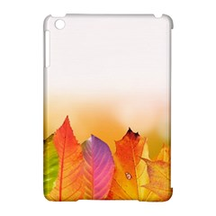 Autumn Leaves Colorful Fall Foliage Apple Ipad Mini Hardshell Case (compatible With Smart Cover) by Amaryn4rt