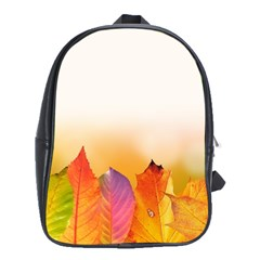 Autumn Leaves Colorful Fall Foliage School Bags (xl)  by Amaryn4rt