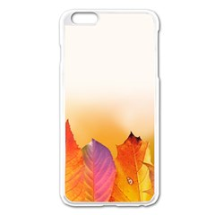 Autumn Leaves Colorful Fall Foliage Apple Iphone 6 Plus/6s Plus Enamel White Case by Amaryn4rt