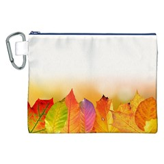 Autumn Leaves Colorful Fall Foliage Canvas Cosmetic Bag (xxl) by Amaryn4rt