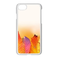 Autumn Leaves Colorful Fall Foliage Apple Iphone 7 Seamless Case (white) by Amaryn4rt