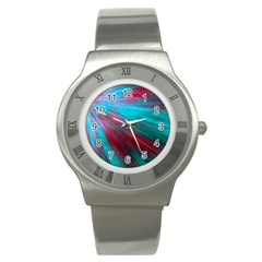 Background Texture Pattern Design Stainless Steel Watch by Amaryn4rt