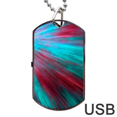 Background Texture Pattern Design Dog Tag Usb Flash (two Sides)  by Amaryn4rt