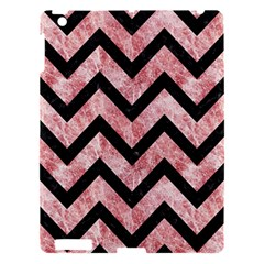 Chevron9 Black Marble & Red & White Marble (r) Apple Ipad 3/4 Hardshell Case by trendistuff