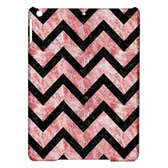 Chevron9 Black Marble & Red & White Marble (r) Apple Ipad Air Hardshell Case by trendistuff