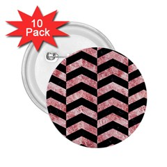 Chevron2 Black Marble & Red & White Marble 2 25  Button (10 Pack) by trendistuff