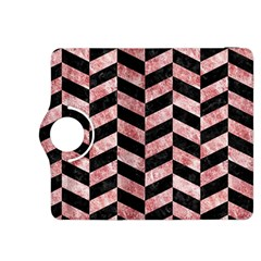 Chevron1 Black Marble & Red & White Marble Kindle Fire Hdx 8 9  Flip 360 Case by trendistuff