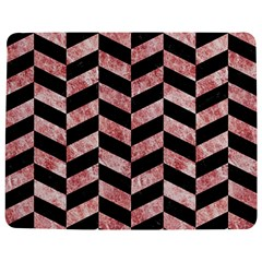 Chevron1 Black Marble & Red & White Marble Jigsaw Puzzle Photo Stand (rectangular) by trendistuff