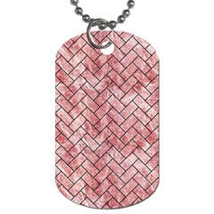 Brick2 Black Marble & Red & White Marble (r) Dog Tag (two Sides) by trendistuff