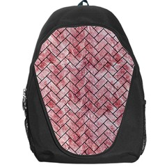 Brick2 Black Marble & Red & White Marble (r) Backpack Bag by trendistuff