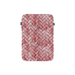 Brick2 Black Marble & Red & White Marble (r) Apple Ipad Mini Protective Soft Case by trendistuff