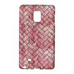 Brick2 Black Marble & Red & White Marble (r) Samsung Galaxy Note Edge Hardshell Case by trendistuff