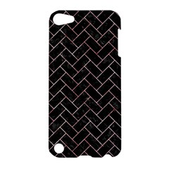 Brick2 Black Marble & Red & White Marble Apple Ipod Touch 5 Hardshell Case by trendistuff