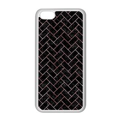 Brick2 Black Marble & Red & White Marble Apple Iphone 5c Seamless Case (white) by trendistuff
