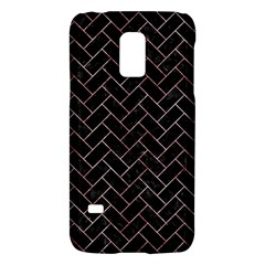 Brick2 Black Marble & Red & White Marble Samsung Galaxy S5 Mini Hardshell Case  by trendistuff