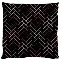 Brick2 Black Marble & Red & White Marble Standard Flano Cushion Case (two Sides) by trendistuff