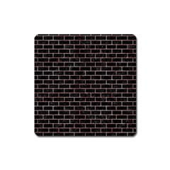 Brick1 Black Marble & Red & White Marble Magnet (square) by trendistuff
