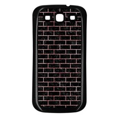 Brick1 Black Marble & Red & White Marble Samsung Galaxy S3 Back Case (black) by trendistuff