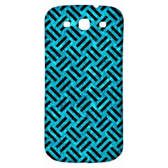 Woven2 Black Marble & Turquoise Marble (r) Samsung Galaxy S3 S Iii Classic Hardshell Back Case by trendistuff
