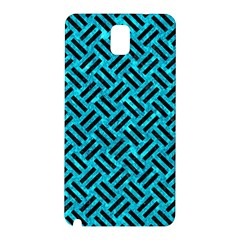 Woven2 Black Marble & Turquoise Marble (r) Samsung Galaxy Note 3 N9005 Hardshell Back Case
