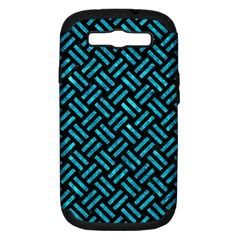 Woven2 Black Marble & Turquoise Marble Samsung Galaxy S Iii Hardshell Case (pc+silicone) by trendistuff