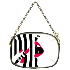 Lipstick Face Girl Chain Purses (two Sides)  by Jojostore