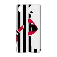 Lipstick Face Girl Sony Xperia Z3+ by Jojostore