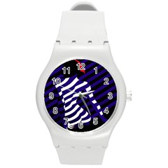 Illustration Of A Woman s Back Round Plastic Sport Watch (m) by Jojostore