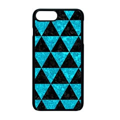 Triangle3 Black Marble & Turquoise Marble Apple Iphone 7 Plus Seamless Case (black) by trendistuff