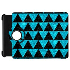 Triangle2 Black Marble & Turquoise Marble Kindle Fire Hd Flip 360 Case by trendistuff