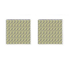Yellow Washi Tape Tileable Cufflinks (square) by Jojostore