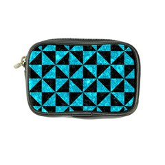 Triangle1 Black Marble & Turquoise Marble Coin Purse by trendistuff