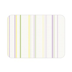 Line Yellow Purple Green Double Sided Flano Blanket (mini)  by Jojostore