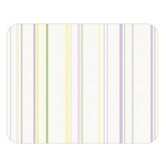 Line Yellow Purple Green Double Sided Flano Blanket (large)  by Jojostore
