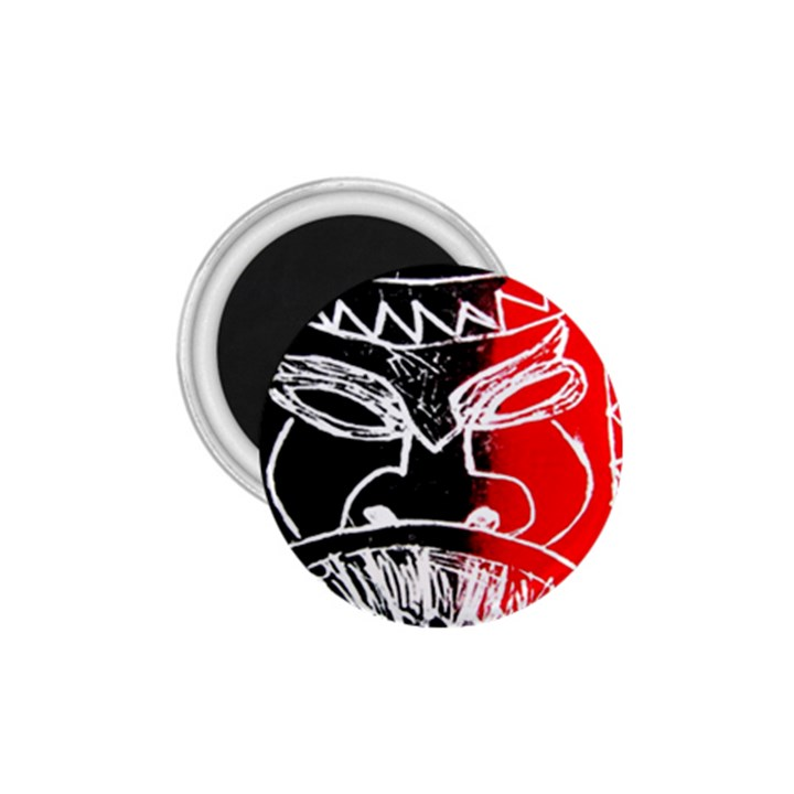 Mask Face Red Black 1.75  Magnets