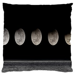 Moon Phase Large Cushion Case (one Side) by Jojostore