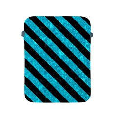 Stripes3 Black Marble & Turquoise Marble (r) Apple Ipad 2/3/4 Protective Soft Case by trendistuff