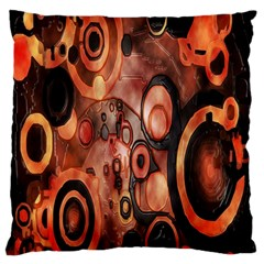 Orange Black Abstract Artwork Large Cushion Case (two Sides) by Jojostore