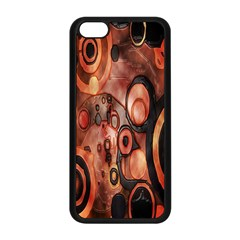 Orange Black Abstract Artwork Apple Iphone 5c Seamless Case (black) by Jojostore
