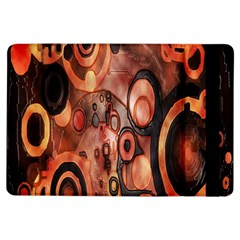 Orange Black Abstract Artwork Ipad Air Flip by Jojostore
