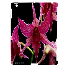 Orchid Flower Branch Pink Exotic Black Apple Ipad 3/4 Hardshell Case (compatible With Smart Cover) by Jojostore