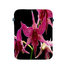 Orchid Flower Branch Pink Exotic Black Apple Ipad 2/3/4 Protective Soft Cases by Jojostore